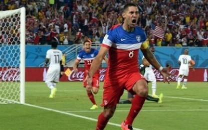 Gol Kilat Dempsey Bawa AS Memimpin atas Ghana