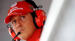 Former Ferrari driver Michael Schumacher of Germany looks on during the qualifying session for the Italian F1 Grand Prix race at the Monza racetrack near Milan, in this September 13, 2008 file photo. Formula One ex-champion Schumacher, who sustained severe head injuries in a ski accident in late 2013, is no longer in a coma and has left the French hospital where he was being treated since the accident, his spokeswoman said on June 16, 2014.  REUTERS/Alessandro Bianchi/Files    (ITALY - Tags: SPORT MOTORSPORT F1)