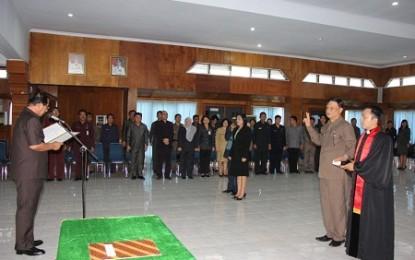 Wali Kota Bitung Mutasi Sejumlah Pejabat
