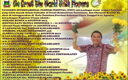 Inilah Agenda Tomohon International Flower Festival 2014