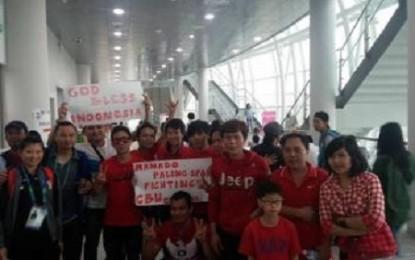 """Manado Paling Span"", Teriak Supporter Indonesia"