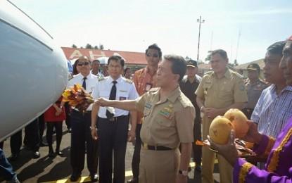 Gubernur Sarundajang Launching Penambahan Frekuensi Penerbangan