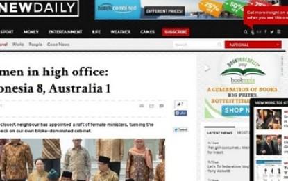 Menteri Wanita: Indonesia 8, Australia 1