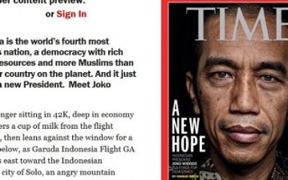 Jokowi Jadi Laporan Utama Majalah TIME