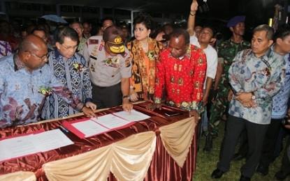 Gubernur Sarundajang Saksikan Kesepakatan Damai di Tataaran