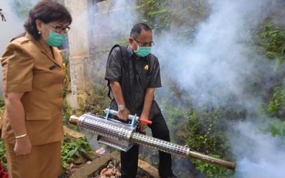 Manado Rawan DBD, Wagub Kansil Lakukan Fogging