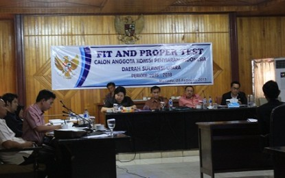 DPRD Gelar Fit and Proper Test Calon Anggota KPID Sulut
