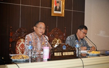 Rakor Managemen BKD se-Kabupaten /Kota Dibuka Wagub Kansil