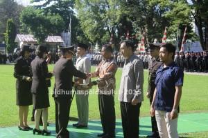 Peringatan Hari Bhayangkara ke-69 di Polda Sulut, 11 Anggota Polri di Berhentikan Dengan Tidak Hormat.