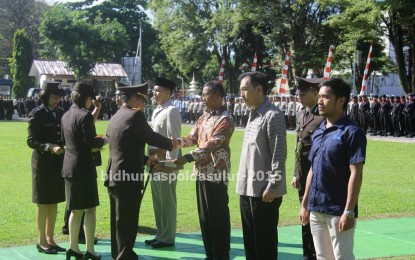 Peringatan Hari Bhayangkara ke-69 di Polda Sulut, 11 Anggota Polri di Berhentikan Dengan Tidak Hormat