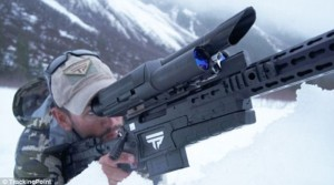 Senapan pintar yang di uji coba militer AS. (Foto: TrackingPoint/Daily Mail)