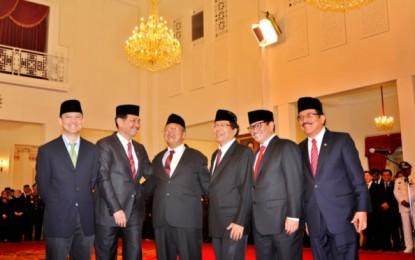 Jokowi Apresiasi Para Menteri yang Tergusur dari Kabinet