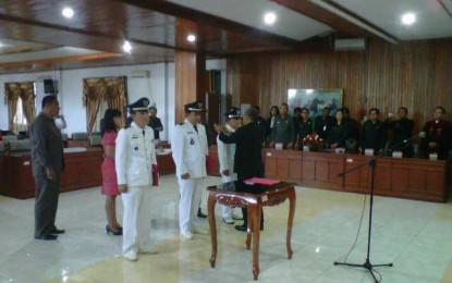 Bupati JWS Lantik 3 Pj Hukum Tua di Minahasa