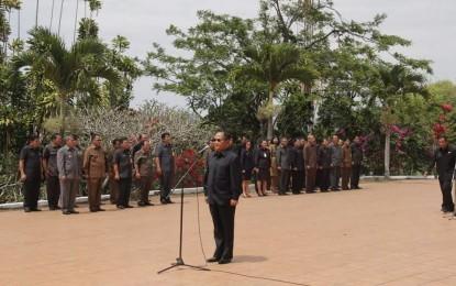 Bupati JWS Hadiri Ziarah HUT Prov.Sulut di Makam Sam Ratulangi