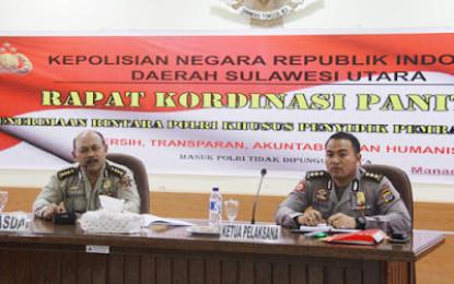 Rakor Panitia Penerimaan Bintara Polri Khusus Penyidik Pembantu, IRWASDA : LAKSANAKAN PRINSIP BETAH!