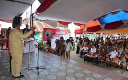 Gubernur Hadiri HKN Sulut di Langowan