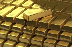Ilustrasi batangan emas. (Foto: Shanghaiist)