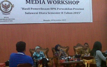 BPK RI Perwakilan Sulut Gelar Media Workshop 2015