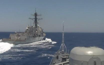 Manuver Berbahaya Destroyer AS terhadap Fregat Rusia