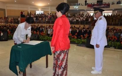 Ny Rita Maya Lantik Ny Fatmy Watung selaku Ketua TP PKK Bolmong