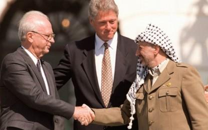 Perjanjian Damai Israel-Palestina Pertama Kali Ditandatangani