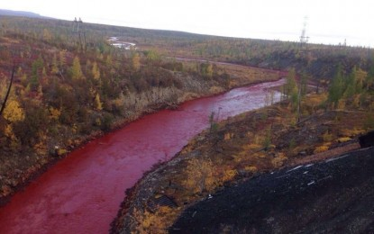 Air Sungai di Rusia Jadi Merah Darah, Ini Penyebabnya