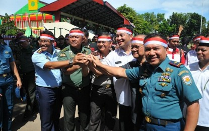 Bersama Petinggi Daerah, Danlantamal Ikut Apel Akbar Nusantara