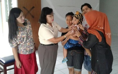 26 Balita Dapat Pelayanan Posyandu Rutin di Lantamal VIII Manado