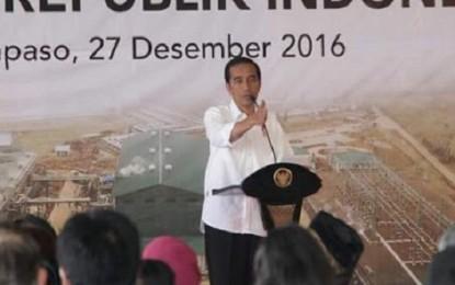 Resmikan PLTP Lahendong, Presiden Joko Widodo Tepis Naker Tiongkok