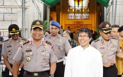 Kapolda Sulut Waskito Tinjau Gereja di Manado