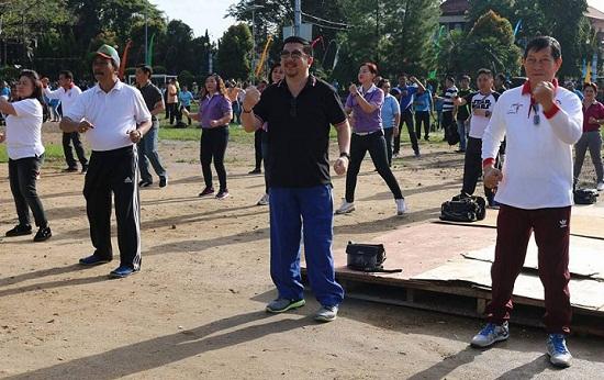 Para petinggi Kota Manado saat berolahraga