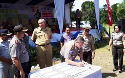 Polres Minahasa Utara Launching Tour Kamseltibcar Lantas