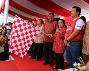 Megawati Soekano Putri Hadiri Parade Pancasila di Sulut