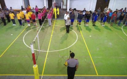 Kapolres Cup Diperebutkan Tim Bola Voli Jelang HUT Bhayangkara ke 71