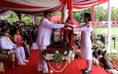 Berlangsung Khidmat, Gubernur jadi Irup di Upacara HUT ke 72 RI