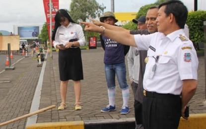 Walikota GSV Lumentut Tinjau Lokasi Indonesia Open X-Sport Championship di Megamas Manado