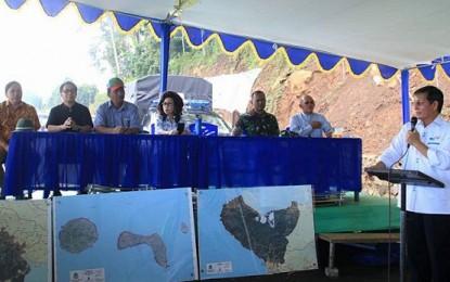 Di Gunung Tumpak, 26 Proyek Infrastruktur Kota Manado Diresmikan Walikota GSVL