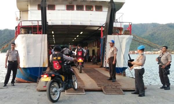 Pasukan Polres Sangihe dikirim ke wilayah Pilkada Kabupaten Kepulauan Sitaro