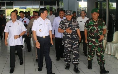 Walikota Manado Sambut Kedatangan Penjaga Perbatasan RI Timor Leste di Pelabuhan Bitung