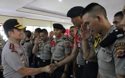 Kapolda Ajak Siswa SPN Polda Sulut Jadi Polisi yang Baik dan Profesional