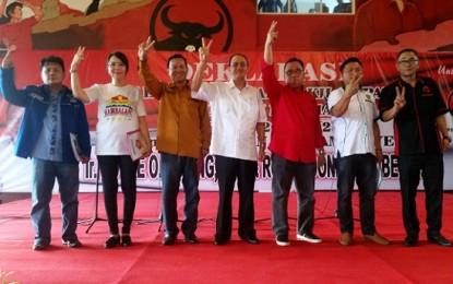 Lima Parpol Deklarasikan Menangkan R3D di Pilkada Minahasa