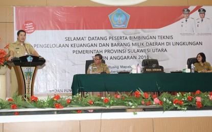 Wagub Kandouw Buka Bimtek Pengelolaan Keuangan dan Barang Milik Daerah