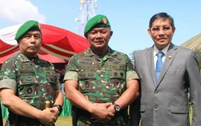 Walikota Manado GSV Lumentut Hadiri Serah Terima Pasukan KODAM XIII/Merdeka