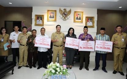 Pemprov Sulut Serahkan Dana Hibah pada PW NU, PW Muhammadiyah, PHBI dan APTISI