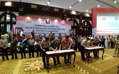 Gubernur Sulut Tandatangani Perjanjian APIP-APH