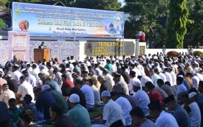 Lantamal VIII Manado Gelar Sholat Idul Fitri 1439 H