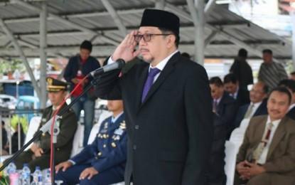 Wawali Mor Irup di Peringatan Harla Pancasila Kota Manado