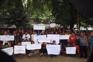 Aksi warga Bunaken menolak kebijakan penempatan rumpon
