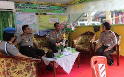 Kapolda Sulut Sambangi Posyan Idul Fitri Maruwasey Polres Minsel