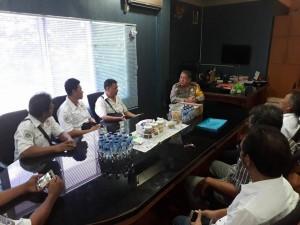 Terry Umboh bersama DPD dan DPC Organda se sulut rapat bersama Direktur Lalulintas Polda Sulut Kombes Pol Ari Subiyanti Sik